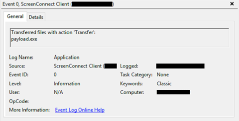 ScreenConnect Filetransfer