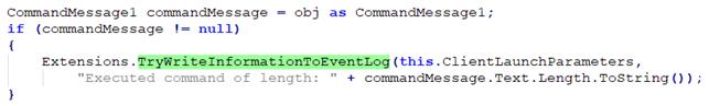 ScreenConnect event log operation.
