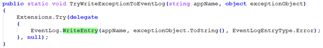 ScreenConnect eventlog write function.